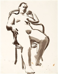 seated figure in chair by david park