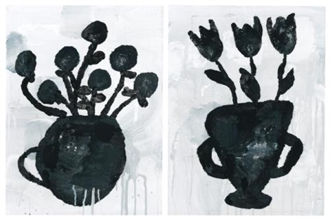 flowers in 2 parts by donald baechler