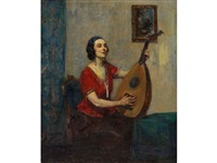 mandolin player by john henry amshewitz