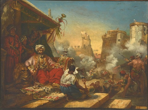 massacre of the marmelukes by emile jean horace vernet