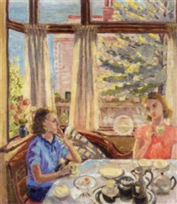 tea in the kitchen by evelin winifred aston