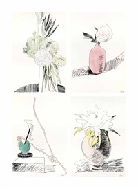 flowers (10 works) by andy warhol