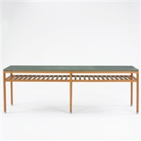 double linear refectory table by hugh newell jacobsen