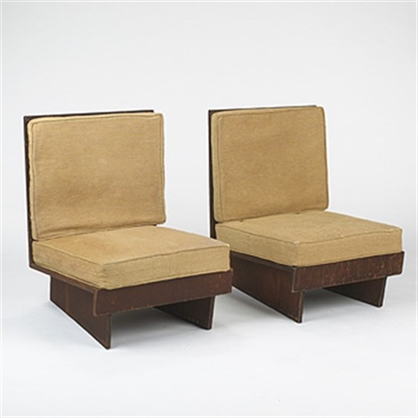Magnificent Lounge Chairs From The Sweeton House By Frank Lloyd Wright Theyellowbook Wood Chair Design Ideas Theyellowbookinfo