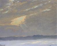 un coucher de soleil près de lausanne by george jackson flemwell