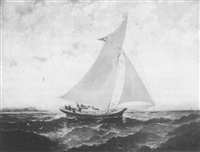 schooner at sea by robert s. austin
