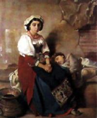 italienne et son enfant by victor louis mottez