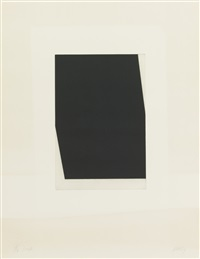 diagonal with black (state), concorde ii (state) & concorde v (state) (3 works) (from the concorde) by ellsworth kelly