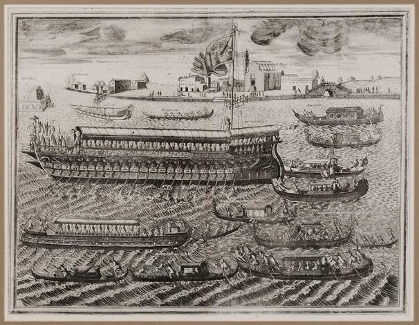 bucintoro nella solennita che si celebra in venetia nel giorgno dellascensione by vincenzo maria coronelli