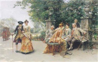 conversation in the park by josé llaneces