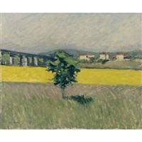 prairie au pont d'argenteuil by gustave caillebotte