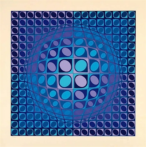 sphere en relief by victor vasarely
