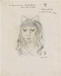 fillette à la collerette by léonard tsuguharu foujita