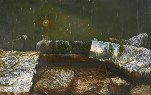 hitlers bunker covered in bird shit by nigel cooke