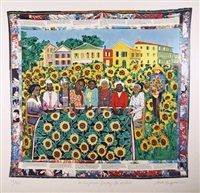 the sunflower's quilting bee at arles by faith ringgold