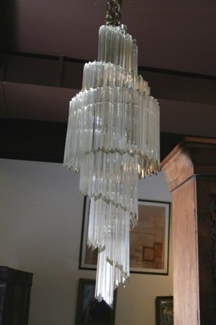 camer crystal 6 tier chandelier italian 20th c