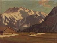 berg im sonnenlicht by karl ihler