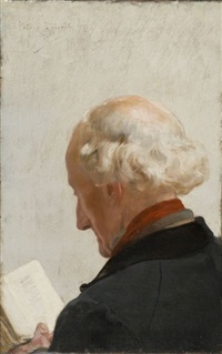 vieil homme lisant by ernest phillippe zacharie