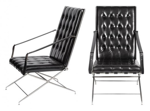 Pair Of Campaign Chairs By John Vesey