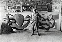 picasso dans son atelier à mougins by edward quinn