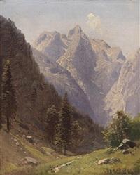 zwei ansichten aus den berchtesgadener alpen by adalbert waagen