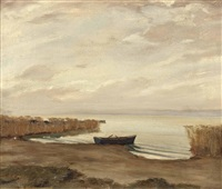 seeufer mit ruderboot by lois alton