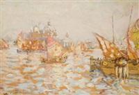 bateaux sur la lagune de venise by charles cottet