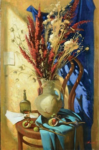 flower vase on the table by igor samsonov