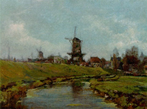 a view on schiedam by chris snijders