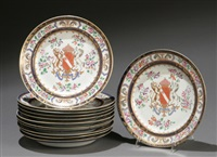 plates (set of 12) by maison samson (co.)