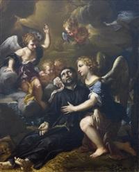 ángeles confortando a san francisco javier by ludovico mazzanti