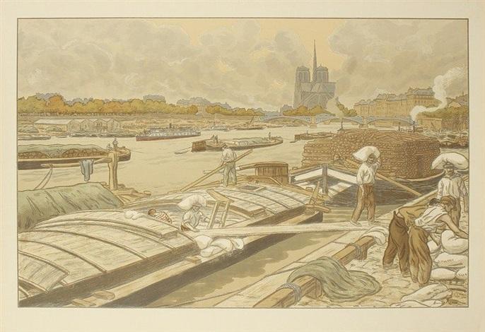 notre dame vue du quai dausterlitz pl3 from paysages parisiens by henri rivière