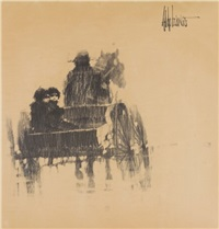 children in carriage by aldo luongo