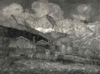 bauernhof im dachsteingebiet by fritz arlt