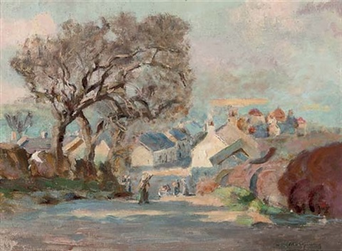 kirkcudbright from barrhill by william stewart macgeorge