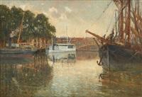 coucher de soleil sur le canal by frans van damme