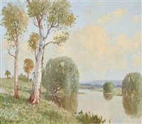 guydir river, near yarrowick, new england (nsw) by william lister-lister