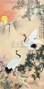 松鹤图 by xu yurong