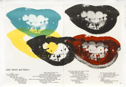 marilyn monroe i love your kiss forever forever from 1 cent life by andy warhol
