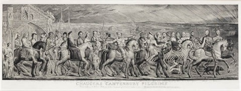 chaucers canterbury pilgrims by william blake