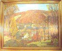 the trestle bridge in autumn by c. harry allis
