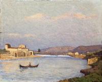 tramonto sull'arno by alberto cecconi