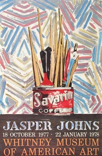 exhibition poster savarin coffee for the whitney museum of american art by jasper johns