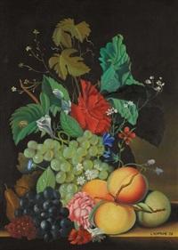 natura morta con vaso di fiori (+ another; pair) by luciano ventrone
