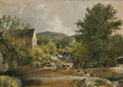 the old mill by jasper francis cropsey