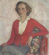 portrait of miss elizabeth enys by léon de smet