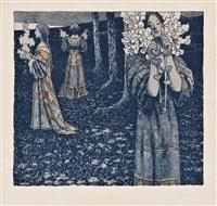 giovani donne con fiori by maximilian lenz