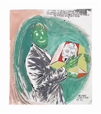 untitled (if i were to draw a map of the world...) by raymond pettibon