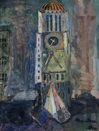 clock tower by howard lerner