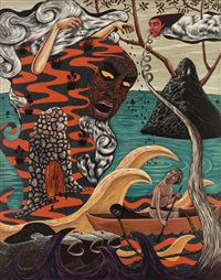 aponi-tolau and the great flood by rodel tapaya